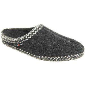 Haflinger Charcoal Boiled Comfy Wool Slippers